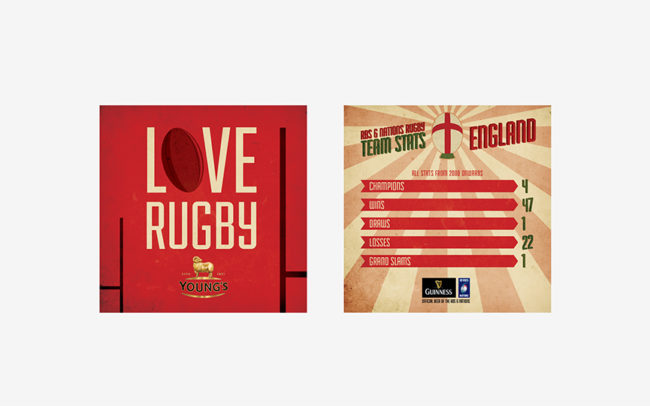 Young's 6 Nations 2014 - Beer Mats