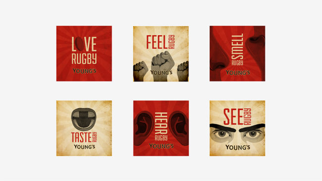 Young's 6 Nations 2014 - Badges